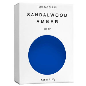 SopranoLabs - Sandalwood Amber Vegan Soap. SPA Gift for him/her