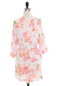 Pop Confetti - Adults Peonies Collection Robes - Ivory