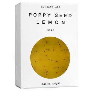 SopranoLabs - POPPY SEED LEMON Vegan Soap. Gift for her/him