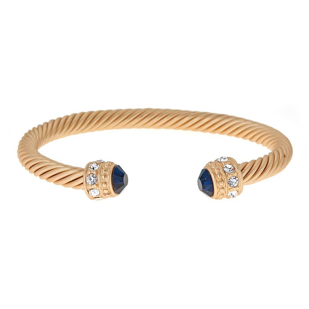 Fornash - Brush Gold / Navy Anne Bracelet