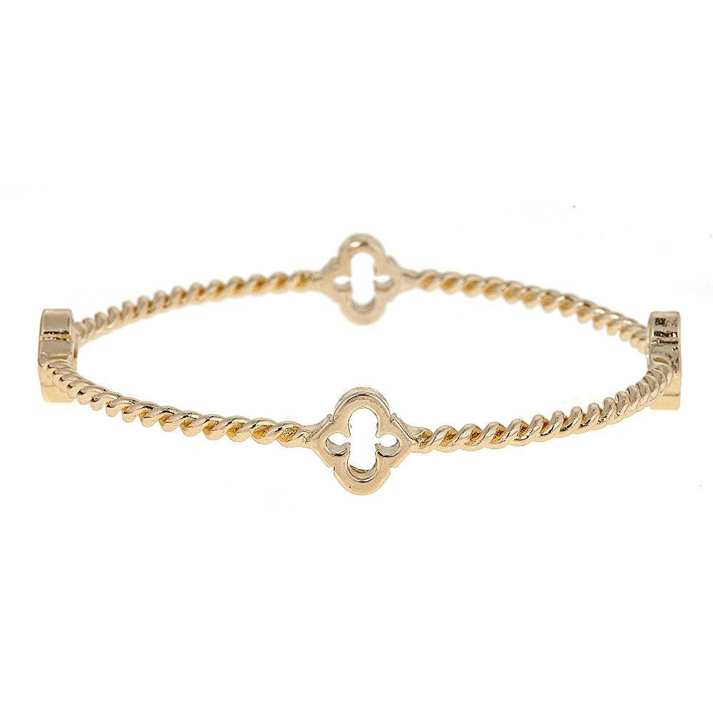Fornash - Gold Cut-Out Rope Spade Bangle