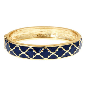 Fornash - Gold / Navy Lattice Bracelet