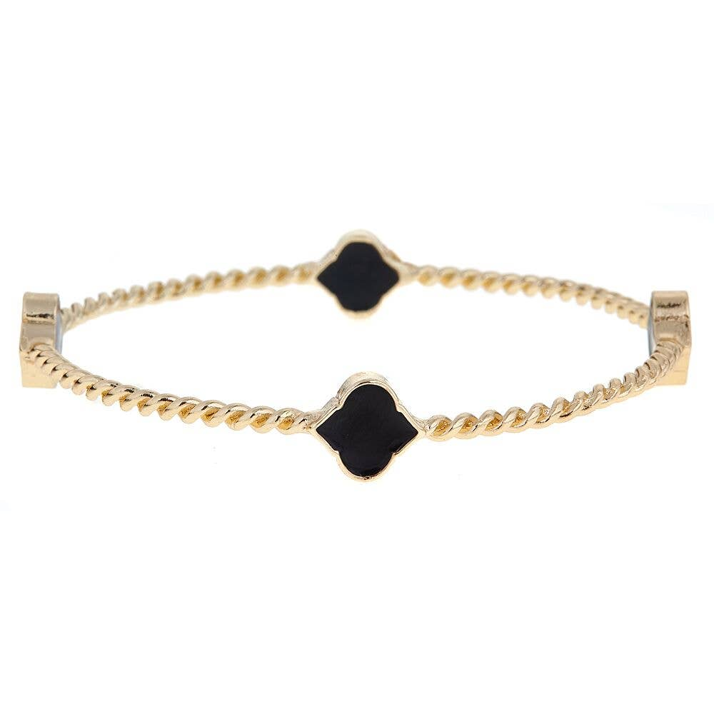 Fornash - Black Rope Spade Bangle