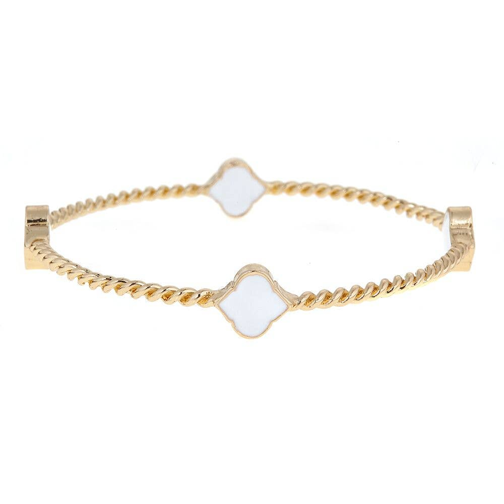 Fornash - White Rope Spade Bangle