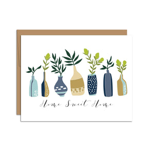 "HAZELMADE - ""Home Sweet Home"" Vases with Branches / Everyday / Card (R)"