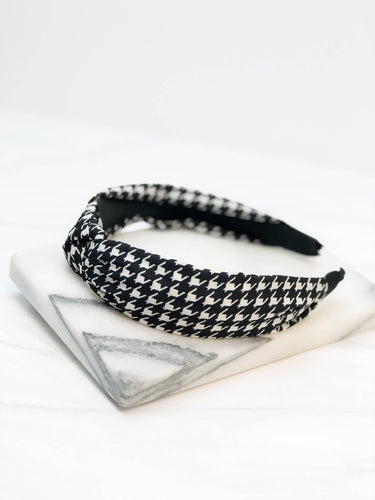 Prep Obsessed Wholesale - Houndstooth Knotted Headband