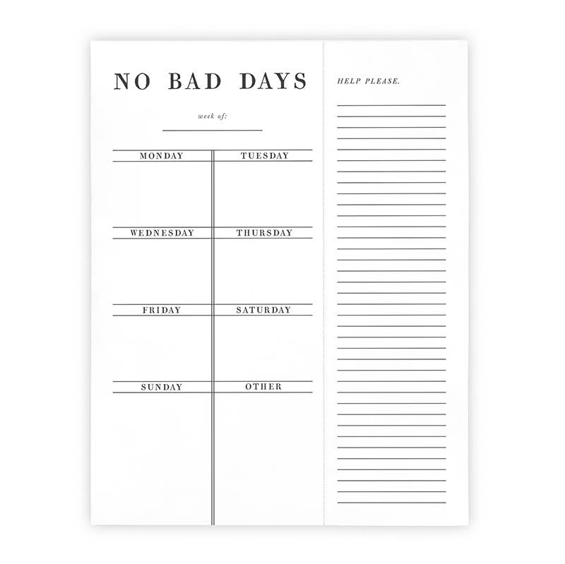 Santa Barbara Design Studio by Creative Brands - F2F Weekly List Pad - No Bad Days