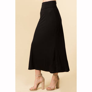 Winslow Collection - HIGH FOLDED WAIST BASIC MAXI SKIRT