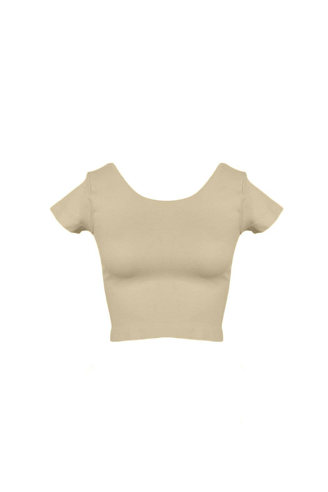 Sugarlips - Cap Sleeve Crop Top