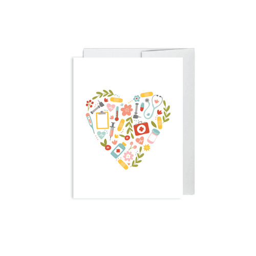 Alexa Zurcher - Healthcare Heart Card - Card for Nurse, Doctor, Midwife