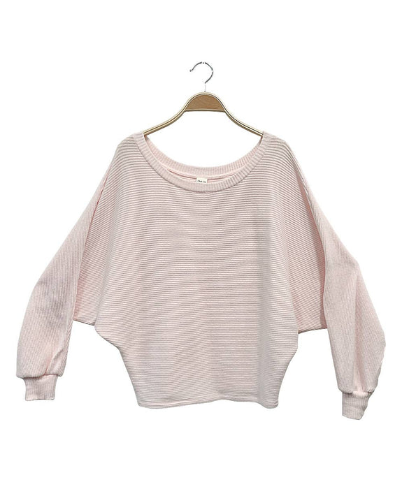 Studio Ko Clothing - OVERSIZED DOLMAN  SWEATER RIB PULLOVER