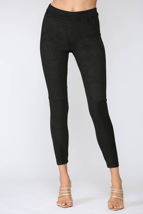 FATE - FAUX SUEDE LEGGINGS