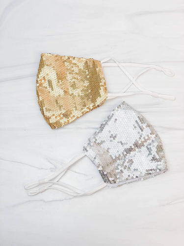 Prep Obsessed Wholesale - Adult Sequin Face Masks