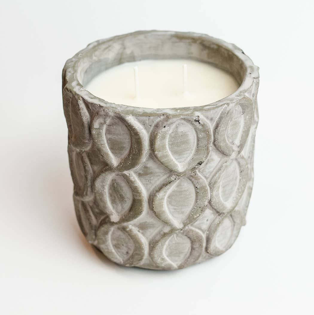 Sweet Wick Candle Company - Concrete Lattice Vessel Candle