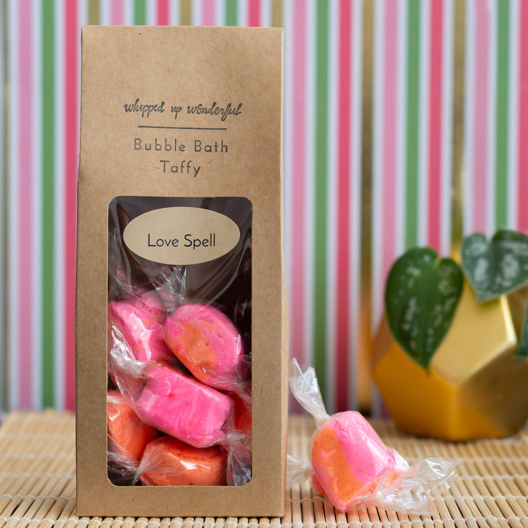 Whipped Up Wonderful - Love Spell Bubble Bath Taffy - 6 Pieces