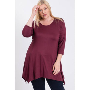 Tunic Dress Top Burgundy