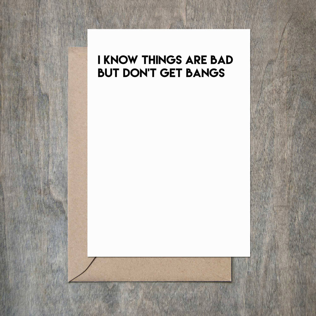 Crimson and Clover Studio - Don't Get Bangs Card