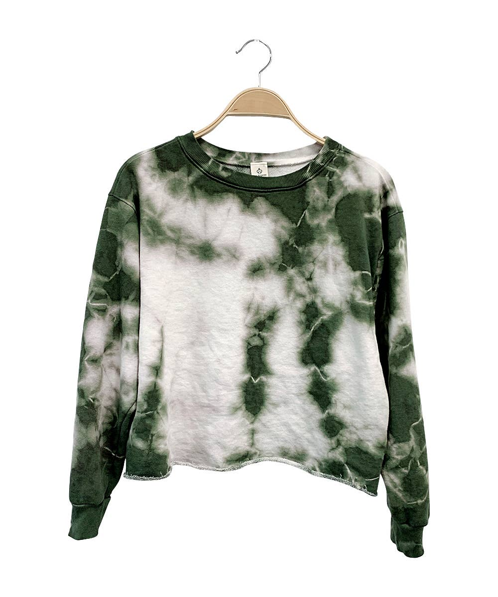 Studio Ko Clothing - DROPDEAD TIE DYE FRENCH TERRY CROP