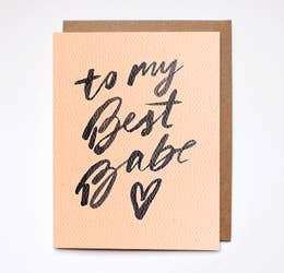 To My Best Babe Card