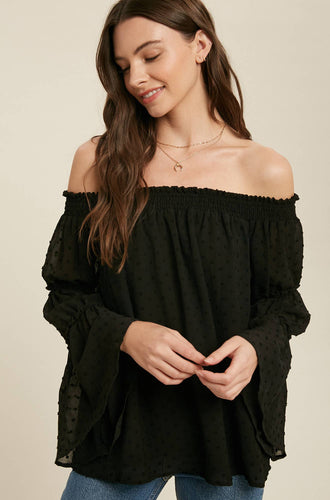 Bluivy - SWISS DOT OFF SHOULDER BLOUSE-BEST
