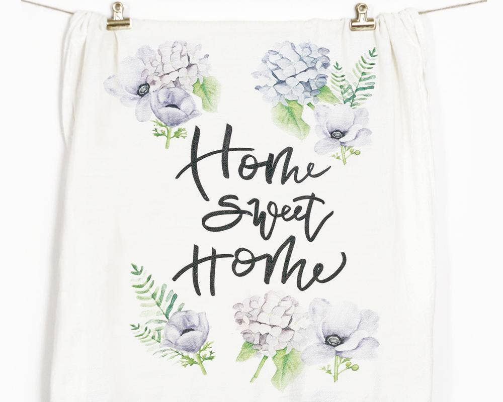 Honey Brush Design - Home Sweet Home Tea Towel