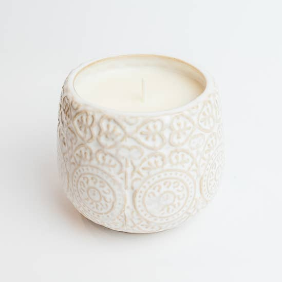 White Jar Candle
