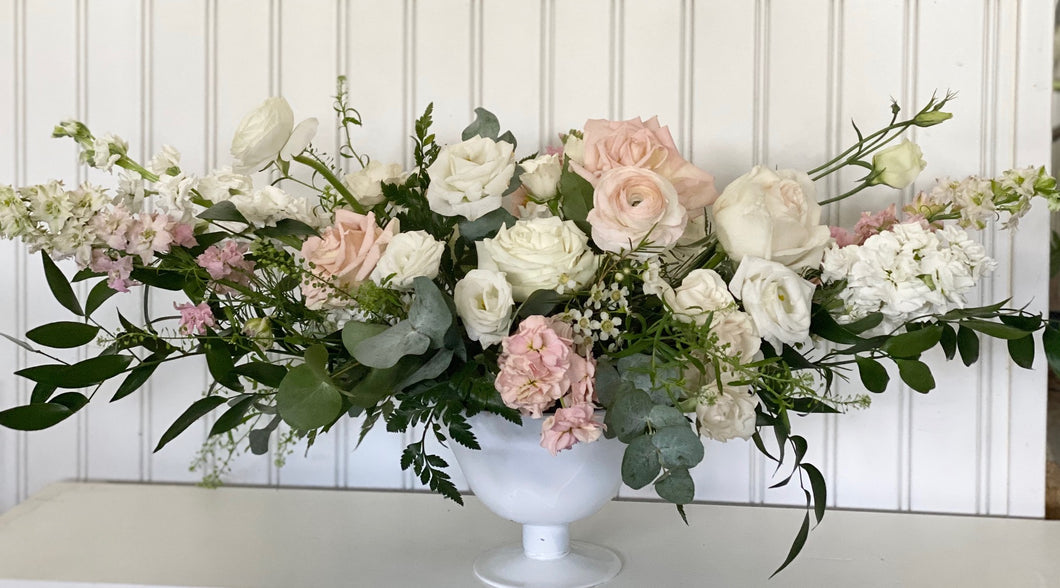 Arrangement - Large Oblong Ivory & Blush