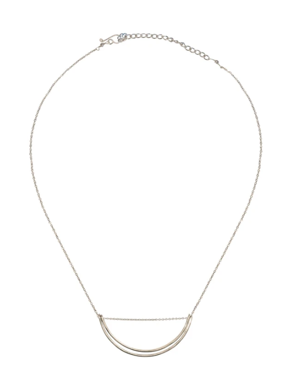 Purpose Jewelry Lunette Necklace Silver