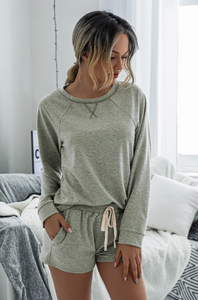 Crew Neck Sweatshirt & Short Set