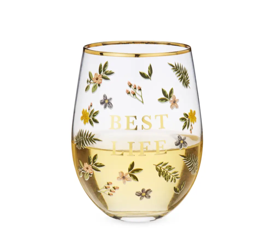 Twine - Best Life Stemless Wine Glass by Twine