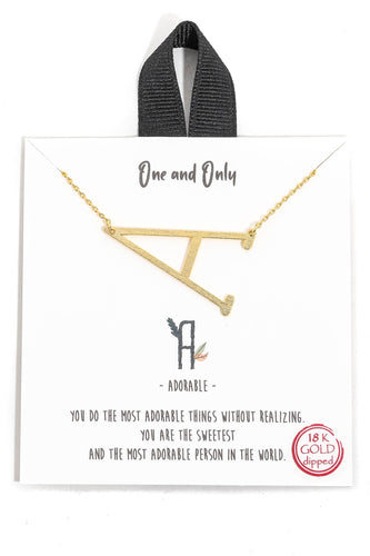 Anarchy Street - 18k Gold Dipped Initial Letter Necklaces