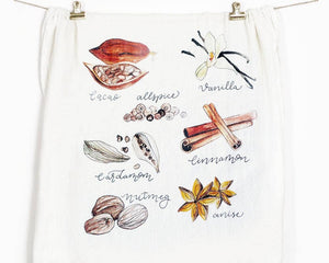 Honey Brush Design - Spices Tea Towel