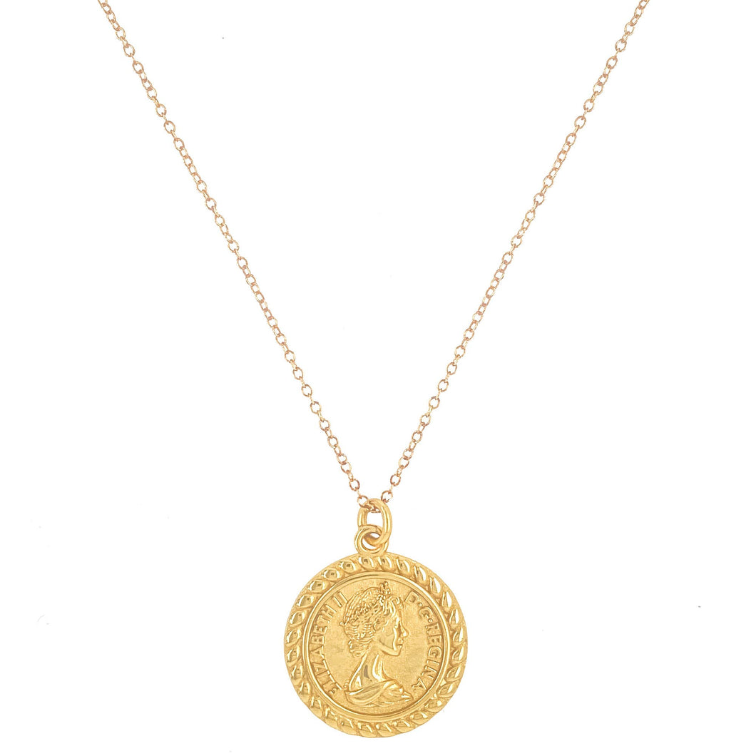 Mod + Jo - Pendant Necklace - The Queen (Gold Filled)