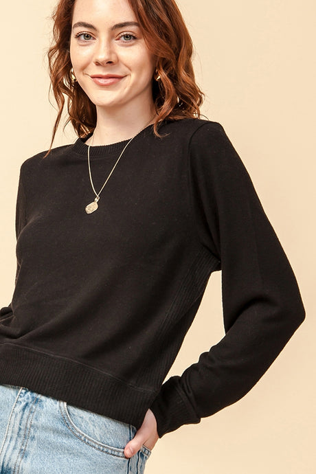 Crop Crewneck Sweatshirt
