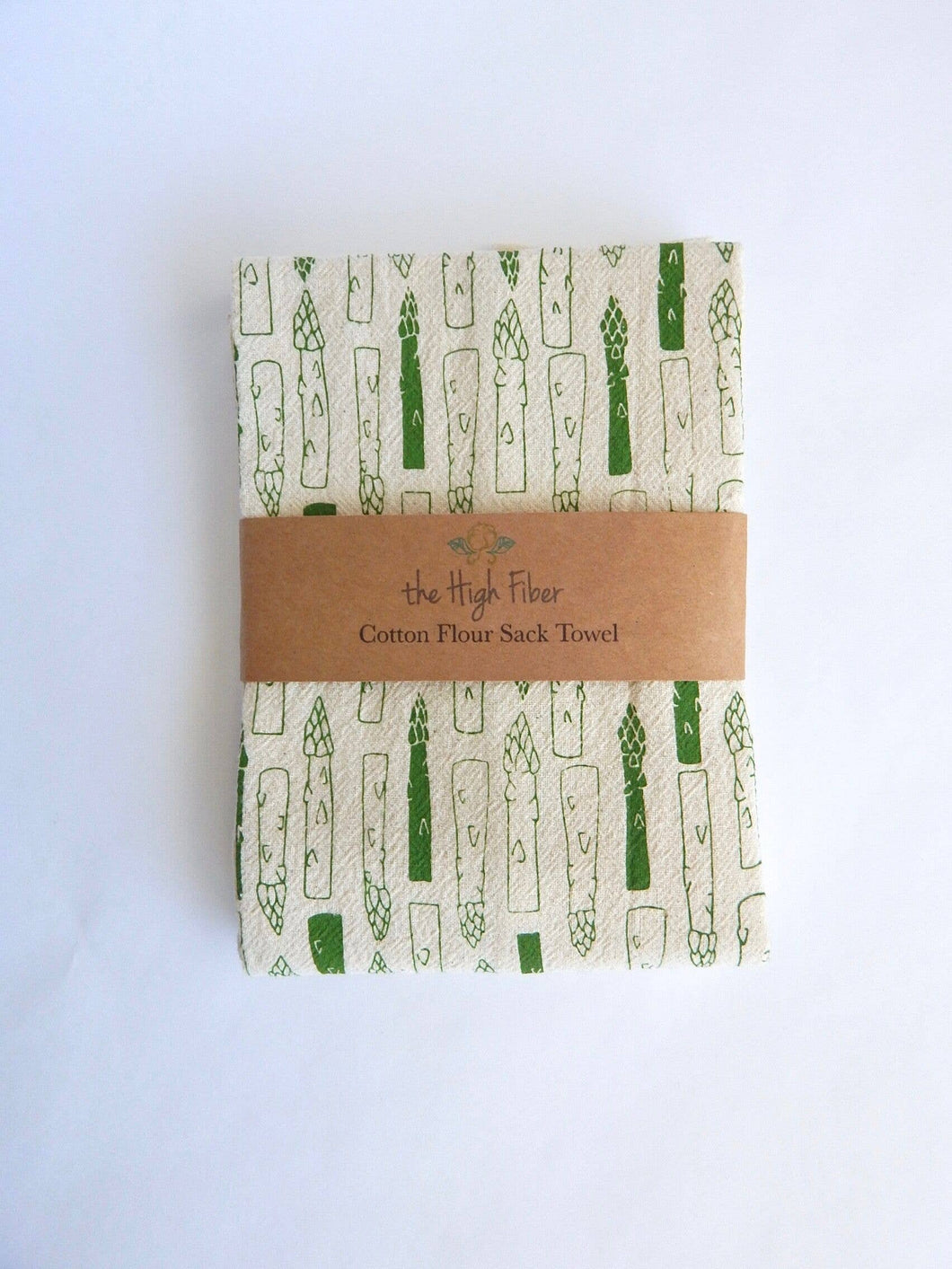The High Fiber - Asparagus Kitchen Towel, Tea Towel