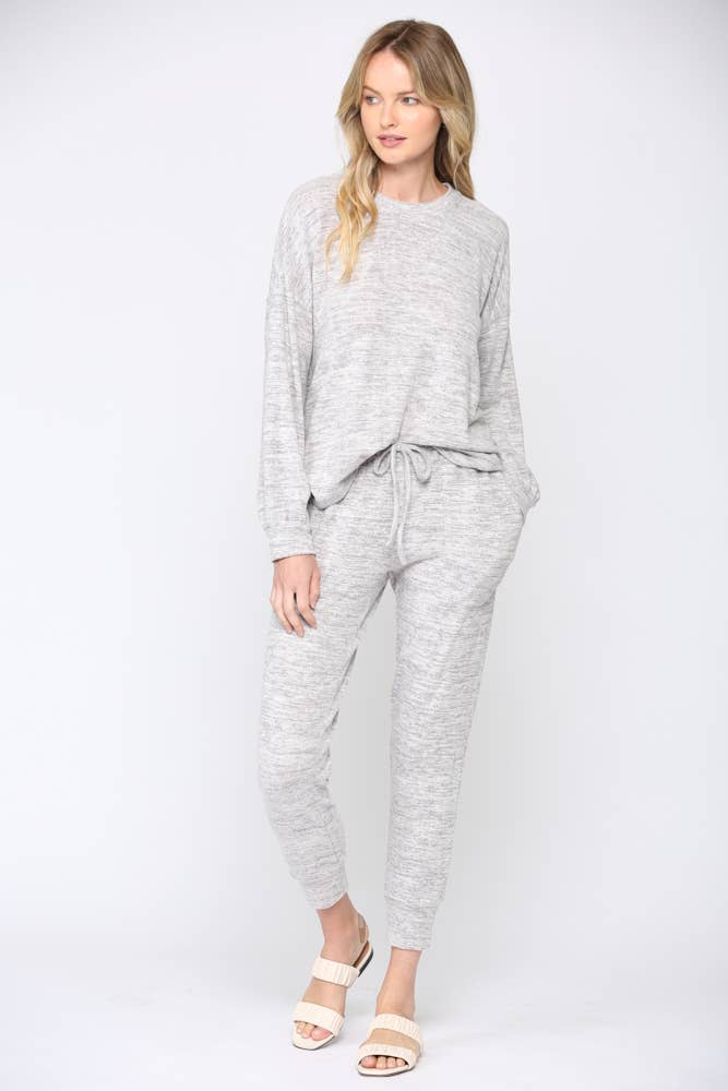 FATE -  BRUSHED HACCI LOUNGE WEAR SET