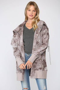 FATE - TIE DYE FRENCH TERRY HOODED JACKET (FJ2664)