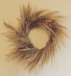 Natural Pampas Grass Wreath