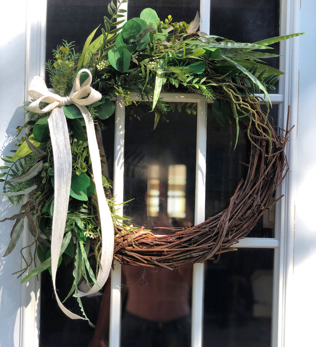 Summer Sea Greens Wreath