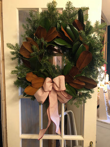 Sweet and Simple Fresh Holiday Wreath