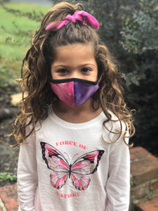 Purple/Pink Tie Dye Kids Mask