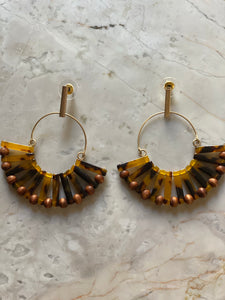 Tortoise earrings- Ruffle