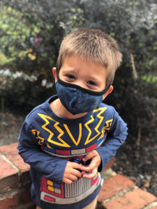 Navy Tie Dye Kids Mask