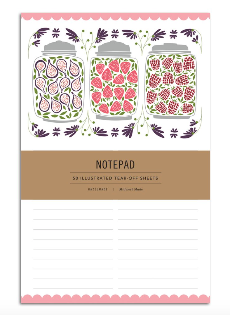 HAZELMADE - Notepad Large - Jam Jars
