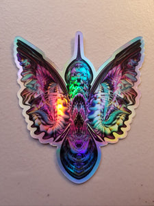 HUMMINGBIRD HOLOGRAPHIC DIE CUT STICKER