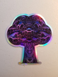 STARBORN HOLOGRAPHIC DIE CUT STICKER