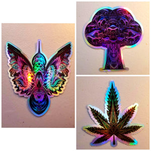 NATURE PACK HOLOGRAPHIC DIE CUT STICKERS