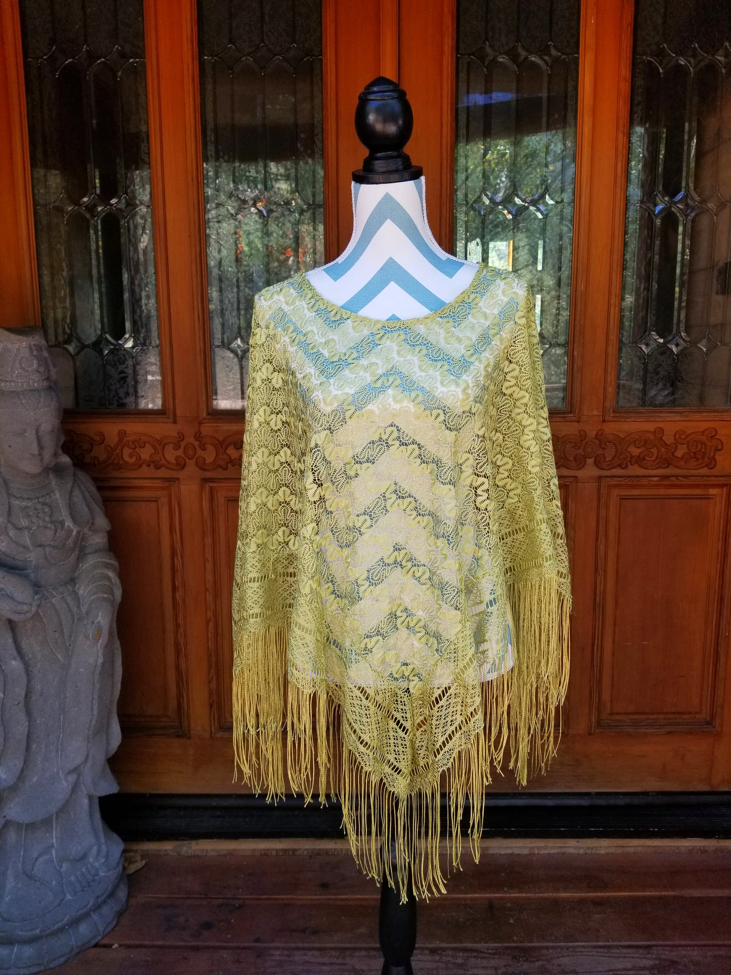 METALLIC GOLDEN YELLOW PONCHO