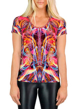 TRIPPING THE LIGHT FANTASTIC SCOOP NECK T-SHIRT
