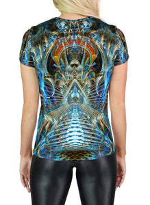 MERE REFLECTION SCOOP NECK T-SHIRT
